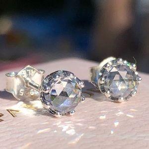 Pandora Clear Sparkling Crown Stud Earrings